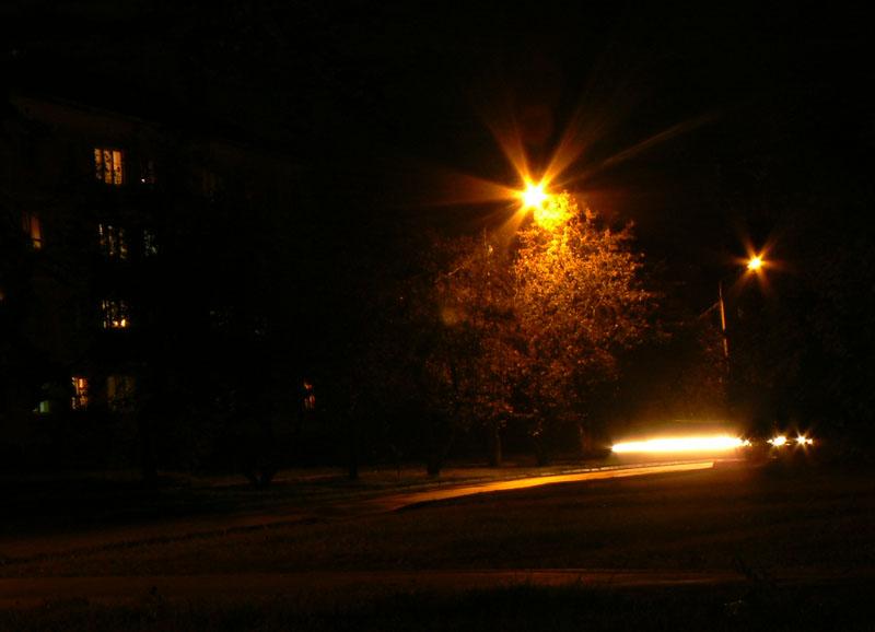 Съемка под ночь